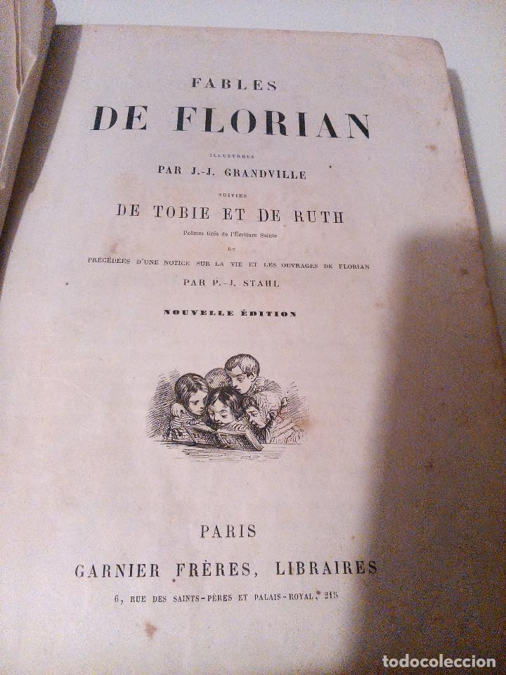 Libros antiguos: Fables de Florian Fábulas de Florian - Foto 2 - 113895683