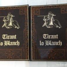Libros antiguos: FASCIMIL TIRANT LO BLANC EDICIONES HUERTA S.L EUADERNADO DE LUJO Y FABRICADA ARTESANALMENTE A LA MAN. Lote 116365603
