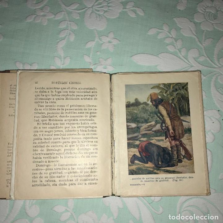 Libros antiguos: Miguel Strogoff y Robinson Crusoe - Foto 2 - 116393987