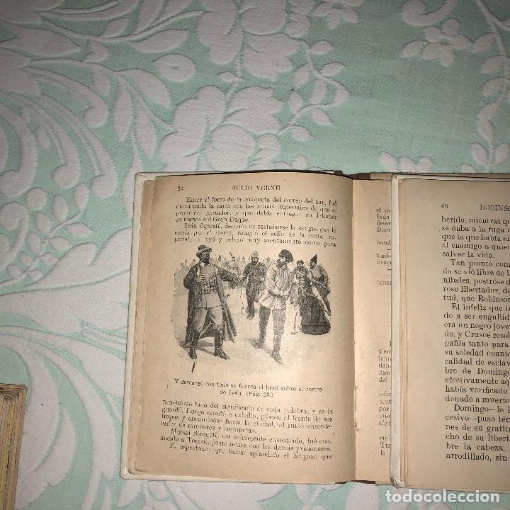 Libros antiguos: Miguel Strogoff y Robinson Crusoe - Foto 3 - 116393987