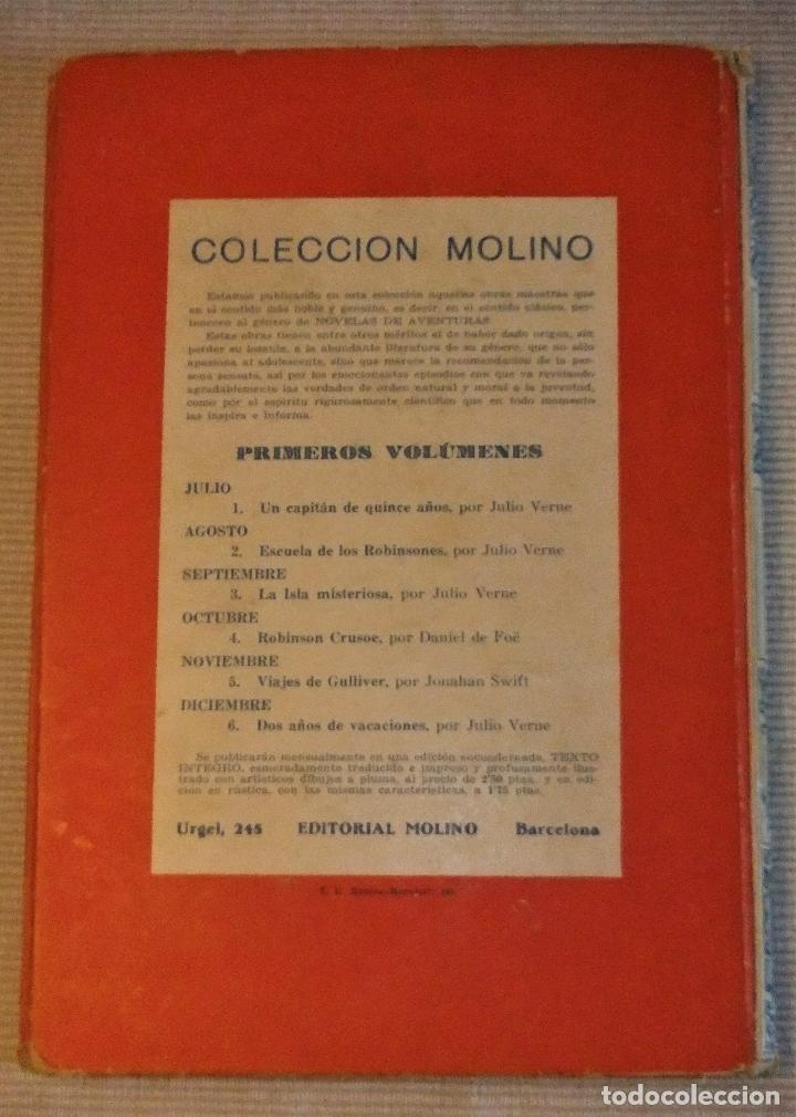 Libros antiguos: UN CAPITAN DE QUINCE AÑOS de JULIO VERNE 1ª EDICIÓN 1934 EDITORIAL MOLINO - Foto 2 - 118894063