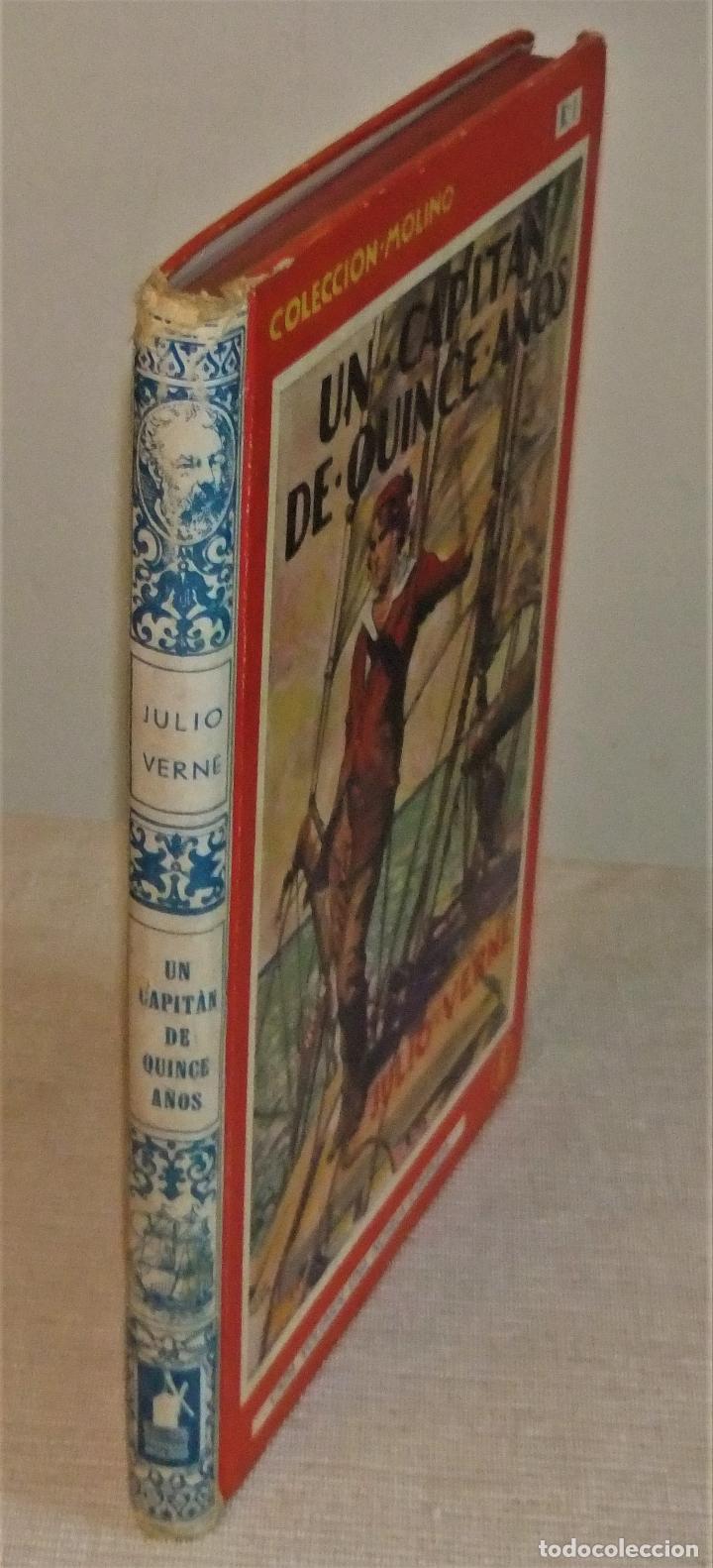 Libros antiguos: UN CAPITAN DE QUINCE AÑOS de JULIO VERNE 1ª EDICIÓN 1934 EDITORIAL MOLINO - Foto 6 - 118894063