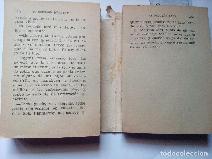 Libros antiguos: Enciclopedia Pulga 69, el pequeño Lord de F Hodgson, Ediciones G.P. Barcelona, años 50 - Foto 2 - 121789731