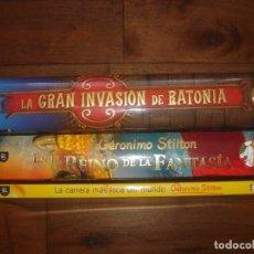 Libros antiguos: LOTE GERONIMO STILTON 3 LIBROS, 2 ESPECIALES, Y 1 SERIE HUMOR Y AVENTURA, ESPLÉDIDO ESTADO. Lote 124265219