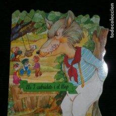 Libros antiguos: F1 CUENTO TROQUELADO ELS 7 CABRIDETS I EL LLOP EDITORIAL COMBEL Nº 9 AÑO 2011 EN CATALAN. Lote 125421695
