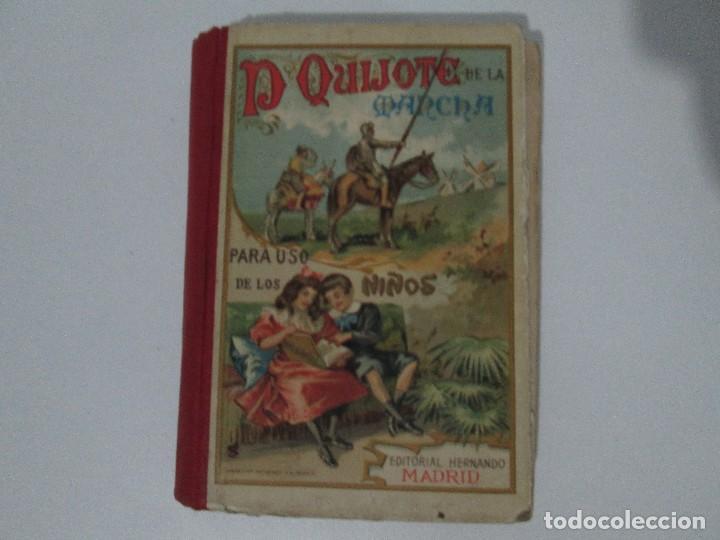 Libros antiguos: DON QUIJOTE DE LA MANCHA. PARA USO DE LOS NIÑOS. MIGEL DE CERVANTES. EDITORIAL HERNANDO. 1928. - Foto 6 - 126316883