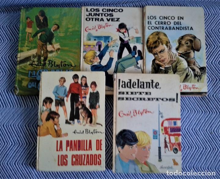 INTERESANTE LOTE DE OBRAS DE ENID BLYTON,LOS CINCOS,AÑOS 70 (Libros Antiguos, Raros y Curiosos - Literatura Infantil y Juvenil - Novela)