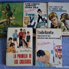 Libros antiguos: INTERESANTE LOTE DE OBRAS DE ENID BLYTON,LOS CINCOS,AÑOS 70. Lote 126810347