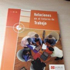 Libros antiguos: 11-00187 - RELACIONES EN EL ENTORNO DE TRABAJO- MACMILLAN. Lote 127593487