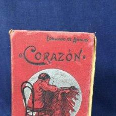 Libros antiguos: CORAZÓN (DIARIO DE UN NIÑO) POR EDMUNDO DE AMICIS AÑO 1905 TRADUCIDO AL ESPAÑOL DE LA 44ª EDICIÓN I. Lote 133687057