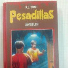 Libros antiguos: PESADILLAS. TAPA DURA. DOS LIBROS EN UNO. INVISIBLES Y SANGRE DE MONSTRUO. Lote 132581550