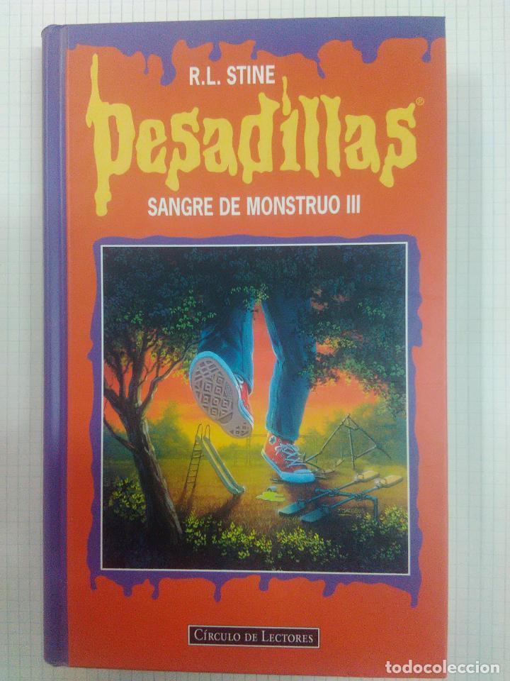 PESADILLAS. TAPA DURA. DOS LIBROS EN UNO. SANGRE DE MONSTRUO III Y HAY ALGO VIVO (Libros Antiguos, Raros y Curiosos - Literatura Infantil y Juvenil - Novela)