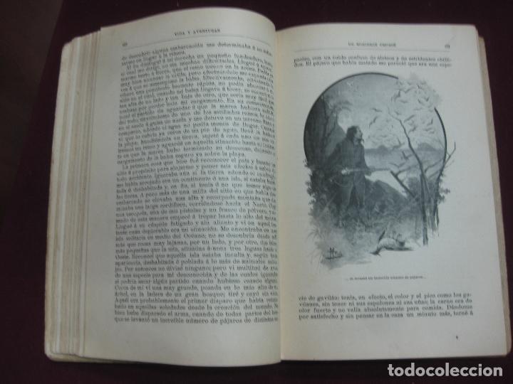 Libros antiguos: VIDA Y AVENTURAS DE ROBINSON CRUSOE. DANIEL DE FOË. EDITORIAL SATURNINO CALLEJA. - Foto 3 - 132641686