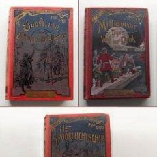 Libros antiguos: 3 LIBROS DE PAUL D'IVOI EN HOLANDES DE 1906 Y 1920 . Lote 133008942