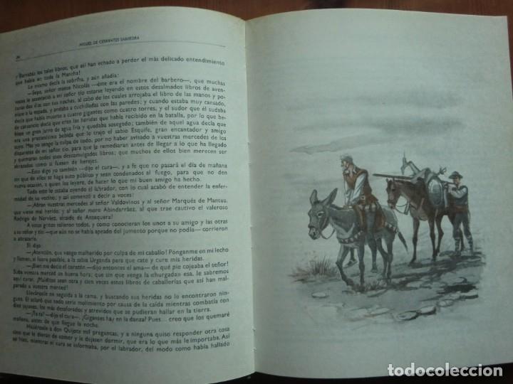 Libros antiguos: Libro DON QUIJOTE DE LA MANCHA (1963) de Miguel de Cervantes. Editorial Vasco Americana. Como nuevo - Foto 3 - 87684524