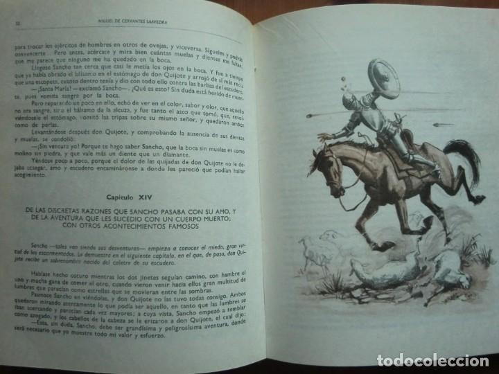 Libros antiguos: Libro DON QUIJOTE DE LA MANCHA (1963) de Miguel de Cervantes. Editorial Vasco Americana. Como nuevo - Foto 4 - 87684524