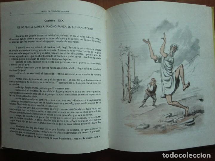 Libros antiguos: Libro DON QUIJOTE DE LA MANCHA (1963) de Miguel de Cervantes. Editorial Vasco Americana. Como nuevo - Foto 5 - 87684524