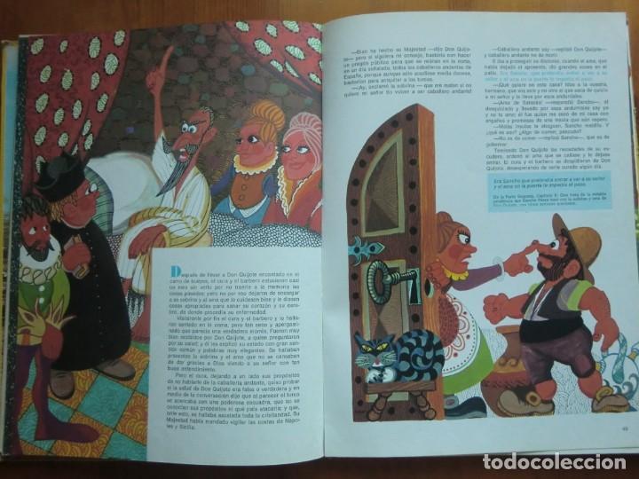 Libros antiguos: Libro DON QUIJOTE DE LA MANCHA (1972) Miguel de Cervantes. Edición Infantil. Editorial Ramón Sopena - Foto 3 - 134590214