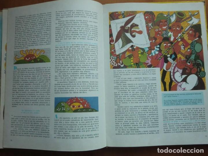 Libros antiguos: Libro DON QUIJOTE DE LA MANCHA (1972) Miguel de Cervantes. Edición Infantil. Editorial Ramón Sopena - Foto 4 - 134590214