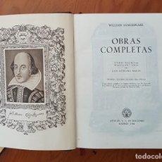 Libros antiguos: OBRA COMPLETA SHAKESPEARE Y LOTE DE 11 LIBROS PEQUEÑO FORMATO MUY ANTIGUOS. Lote 134771566