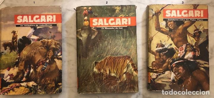 EMILIO SALGARI-TOMO 1-2-3(1955)(24€) (Libros Antiguos, Raros y Curiosos - Literatura Infantil y Juvenil - Novela)