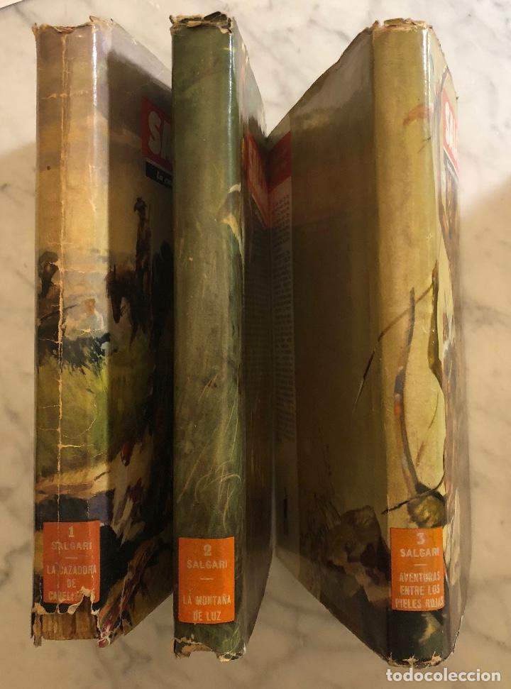 Libros antiguos: EMILIO SALGARI-TOMO 1-2-3(1955)(24€) - Foto 3 - 136058938