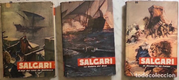 EMILIO SALGARI-TOMO 20-21-22(1956)(24€) (Libros Antiguos, Raros y Curiosos - Literatura Infantil y Juvenil - Novela)