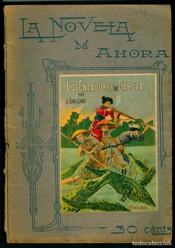 SALGARI - LOS CAZADORES DE CABEZAS - 1908 - ED. CALLEJA (Libros Antiguos, Raros y Curiosos - Literatura Infantil y Juvenil - Novela)