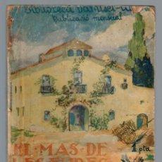 Libros antiguos: MAS DE LES EURES, EL BIBLIOTECA DAMISEL-LA Nº 10 EIMERIC, CLOVIS 1926. Lote 136637830