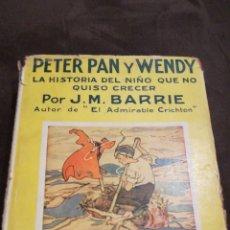 Livros antigos: PETER PAN Y WENDY. Lote 139756614