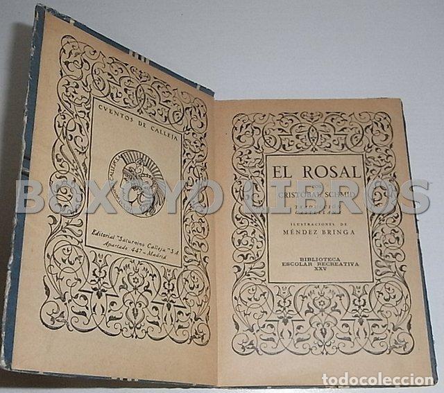 Libros antiguos: SCHMID, Cristóbal. El rosal. Traducción castellana. Ilustraciones de Méndez Bringa - Foto 2 - 140825781