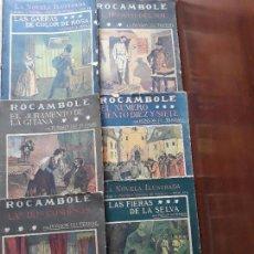 Libros antiguos: LA NOVELA ILUSTRADA ROCAMBOLE II EPOCA 1909- PONSON DU TERRAIL- LOTE DE 9 TOMOS. Lote 142325934