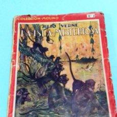 Libros antiguos: LA ISLA MISTERIOSA / JULIO VERNE. COLECCIÓN MOLINO Nº 3. 1A. EDICION OCTUBRE 1934.. Lote 142735270
