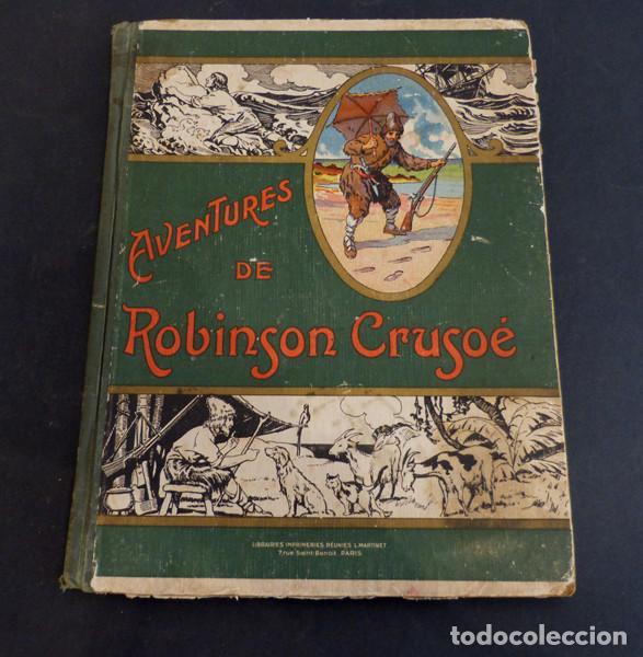 LIBRO AVENTURES DE ROBINSON CRUSOE (Libros Antiguos, Raros y Curiosos - Literatura Infantil y Juvenil - Novela)