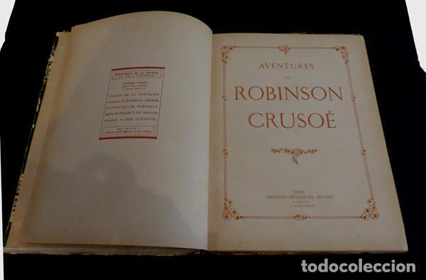 Libros antiguos: Libro Aventures de Robinson Crusoe - Foto 2 - 143821990