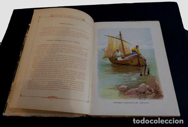 Libros antiguos: Libro Aventures de Robinson Crusoe - Foto 3 - 143821990