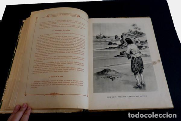 Libros antiguos: Libro Aventures de Robinson Crusoe - Foto 4 - 143821990