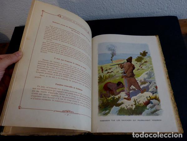Libros antiguos: Libro Aventures de Robinson Crusoe - Foto 5 - 143821990