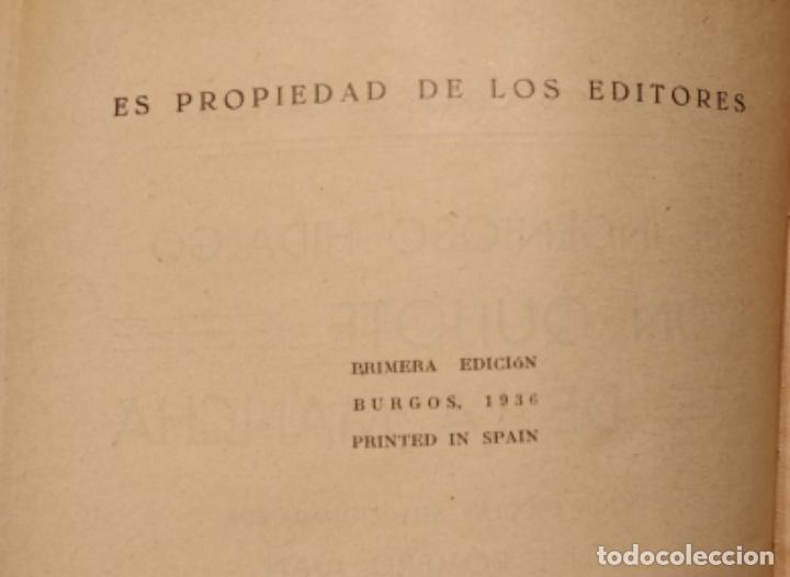 Libros antiguos: Don quijote de la Mancha , santiago rodriguez, 1ª edición, año 1936 - Foto 3 - 144427534