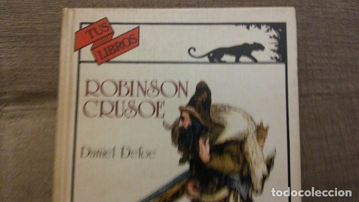 Libros antiguos: Tus libros Robinson crusoe - Foto 5 - 144812050