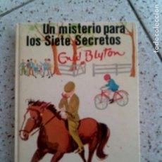 Libros antiguos: NOVELA DE ENID BLYTON , UN MISTERIO PARA LOS SIETE SECRETOS EDITORIAL JUVENTUD. Lote 144836382
