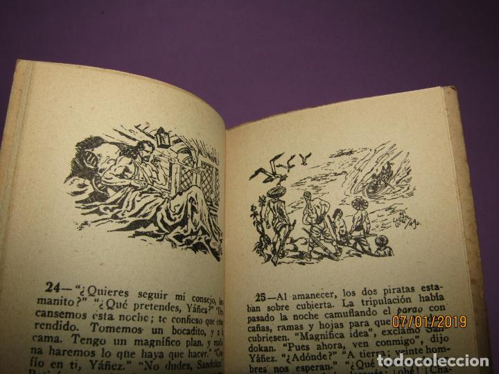 Libros antiguos: Serie *Novelas en Dibujos* *LA MUJER DEL PIRATA* E. Salgari Edit. Saturnino CALLEJA 1930s - Foto 5 - 146033974