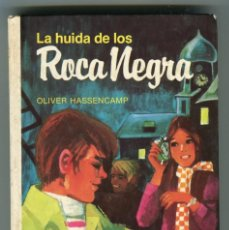 Libros antiguos: OLIVER HASSENCAMP -LA HUIDA DE LOS ROCA NEGRA ILUSTRACIONES KURT SCHMISCHKE ED. MAE AÑO 1981. Lote 146278102