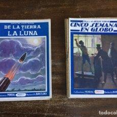 Libros antiguos: DE LA TIERRA A LA LUNA Y CINCO SEMANAS EN GLOBO. COMPLETOS PUBLICACIONES MUNDIAL. Lote 199994232