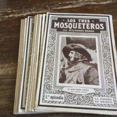 Libros antiguos: LOS TRES MOSQUETEROS, 12T COMPLETO, PUBLICACIONES RAFOLS , BARCELONA. Lote 146382306
