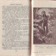 Libros antiguos: SALGARI, EMILIO: EL HOMBRE DE FUEGO. TOMO 1º. SATURNINO CALLEJA. Lote 57328260