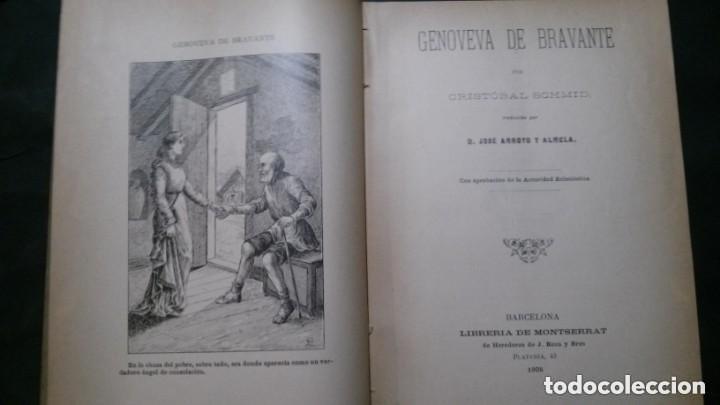 Libros antiguos: GENOVEVA DE BRAVANTE-CRISTÓBAL SCHMID-(LIBRERIA MONTSERRAT-1905) - Foto 4 - 178174360
