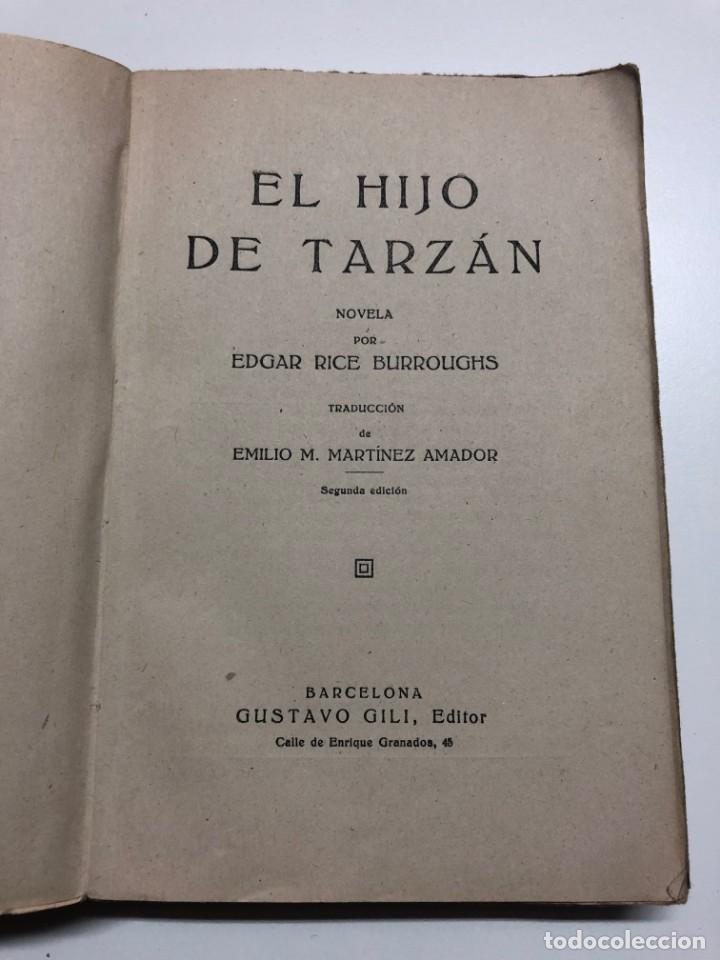 Libros antiguos: EDGAR RICE BURROUGHS. EL HIJO DE TARZÁN. 1927 - Foto 2 - 158122470