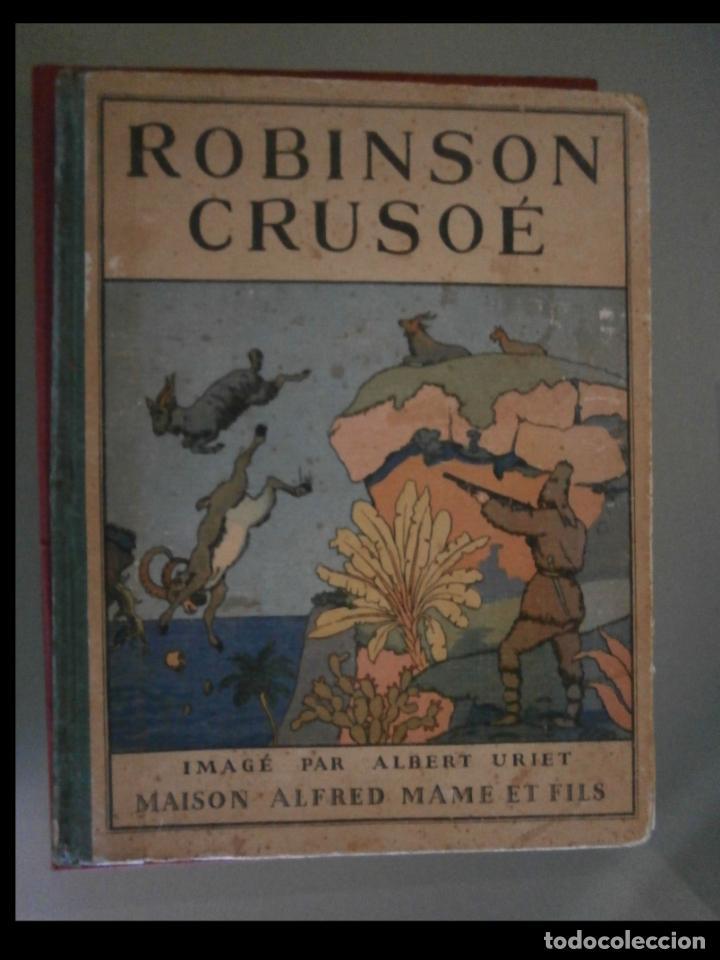 Libros antiguos: Robinson Crusoé. Daniel De Foé - Foto 2 - 158897110