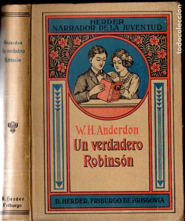 ANDERDON : UN VERDADERO ROBINSON (HERDER, S.F.) (Libros Antiguos, Raros y Curiosos - Literatura Infantil y Juvenil - Novela)